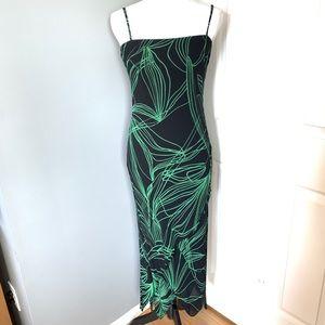 Eva Blue black/green asymmetrical dress size 6